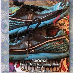 Brooks Sz9 PureDrift ElectricBlue Running Shoes